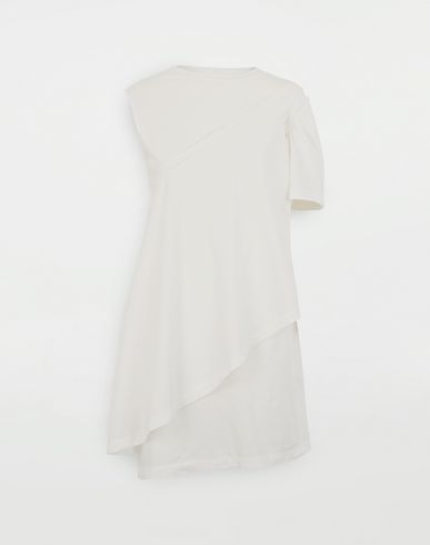 DRESSES Dual-wear T-shirt dress White
