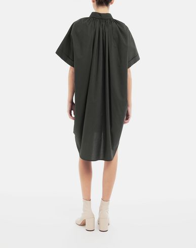DRESSES Oversized shirt-dress Dark green