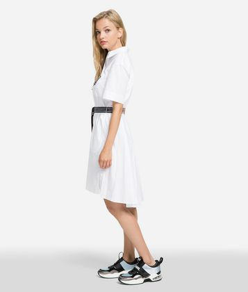 KARL LAGERFELD K/KARLIFORNIA POPLIN SHIRT DRESS
