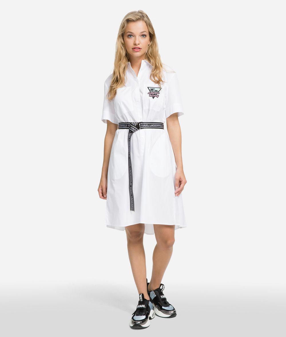 KARL LAGERFELD K/Karlifornia Poplin Shirt Dress Dress Woman f