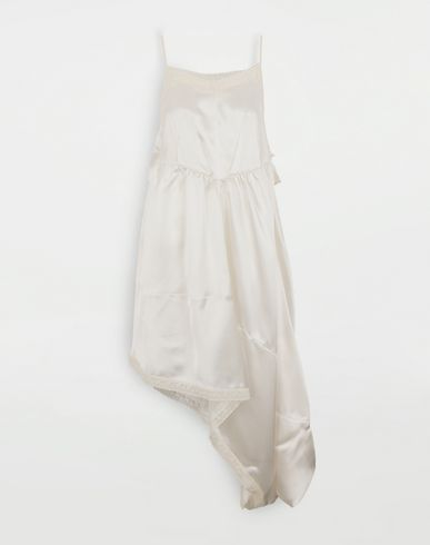 MM6 MAISON MARGIELA Asymmetrical lace-trimmed dress Long dress [*** pickupInStoreShipping_info ***] f