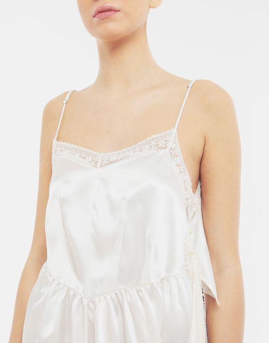 MM6 MAISON MARGIELA Asymmetrical lace-trimmed dress Long dress [*** pickupInStoreShipping_info ***] a