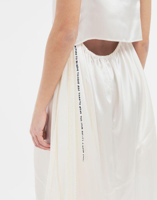 MM6 MAISON MARGIELA Asymmetrical lace-trimmed dress Long dress [*** pickupInStoreShipping_info ***] b