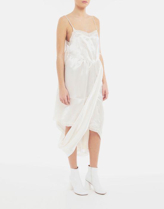 MM6 MAISON MARGIELA Asymmetrical lace-trimmed dress Long dress [*** pickupInStoreShipping_info ***] d