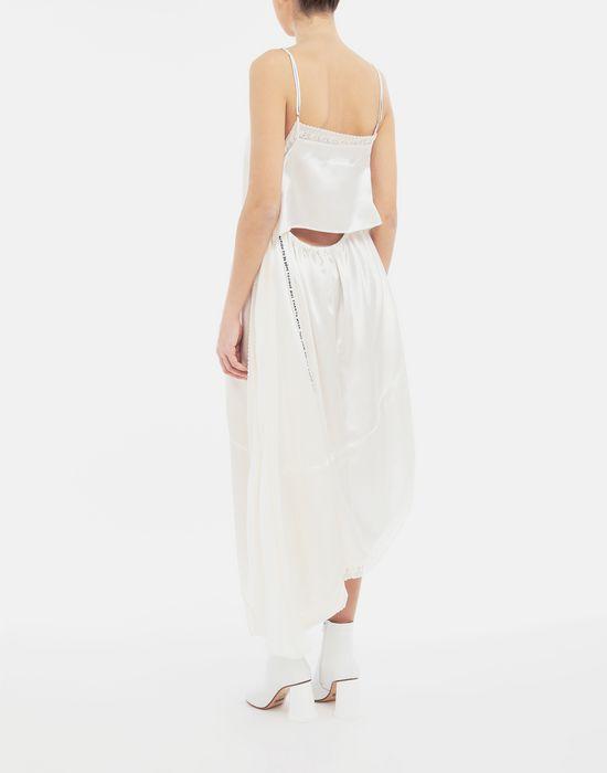 MM6 MAISON MARGIELA Asymmetrical lace-trimmed dress Long dress [*** pickupInStoreShipping_info ***] e