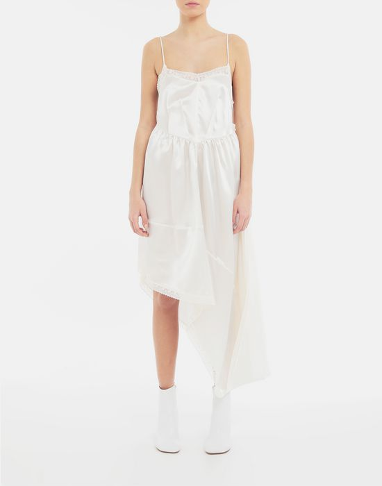 MM6 MAISON MARGIELA Asymmetrical lace-trimmed dress Long dress [*** pickupInStoreShipping_info ***] r