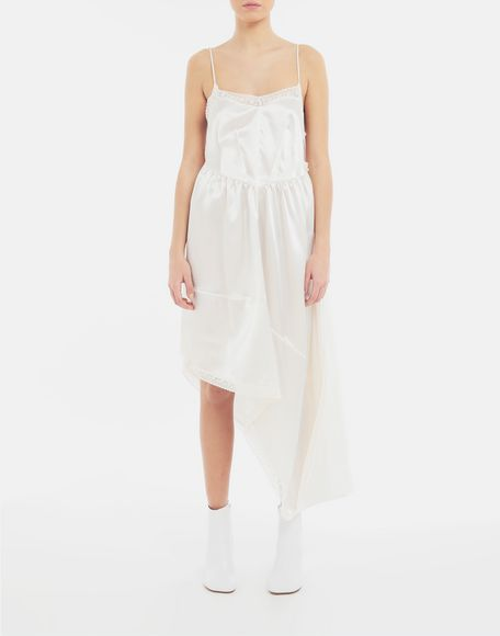 MM6 MAISON MARGIELA Asymmetrical lace-trimmed dress Long dress Woman r