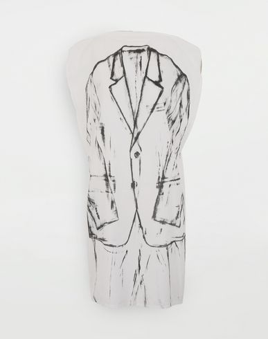 MM6 MAISON MARGIELA 3/4 length dress [*** pickupInStoreShipping_info ***] Trace Marked printed garment bag dress f