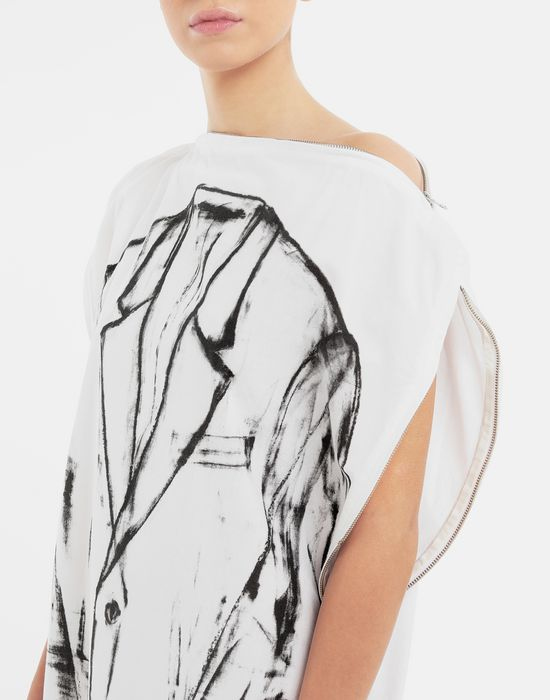 MM6 MAISON MARGIELA Trace Marked printed garment bag dress 3/4 length dress [*** pickupInStoreShipping_info ***] a