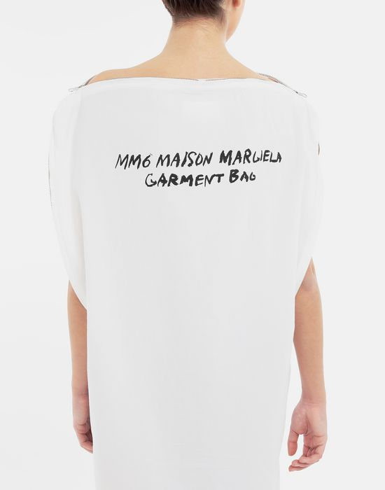MM6 MAISON MARGIELA Trace Marked printed garment bag dress 3/4 length dress [*** pickupInStoreShipping_info ***] b