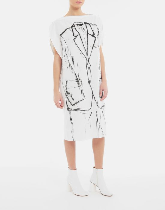 MM6 MAISON MARGIELA Trace Marked printed garment bag dress 3/4 length dress [*** pickupInStoreShipping_info ***] d