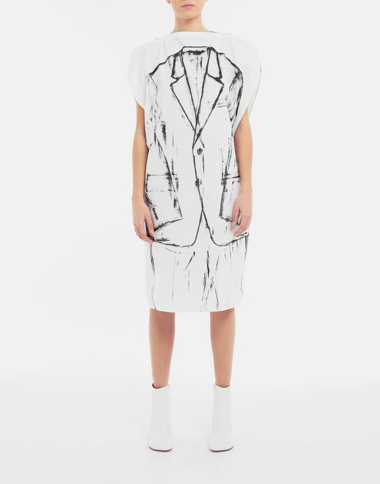 MM6 MAISON MARGIELA Trace Marked printed garment bag dress 3/4 length dress [*** pickupInStoreShipping_info ***] r