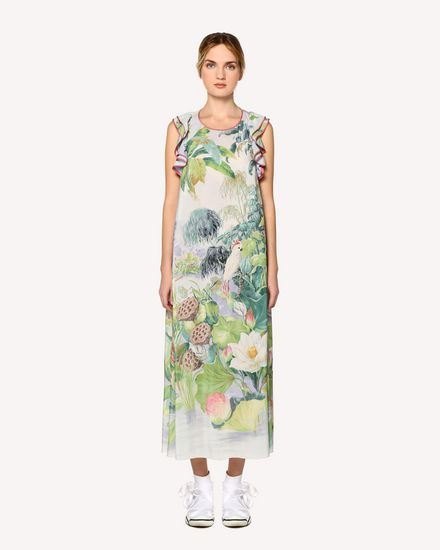 REDValentino Printed dress Woman RR0VAC70KRV NV1 f