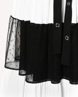 REDValentino ジャージー&ポワンデスプリチュール ドレス