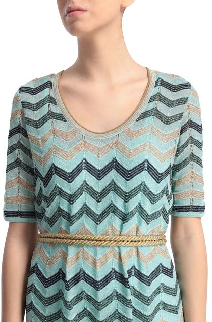 M MISSONI Dress Light green Woman - Front