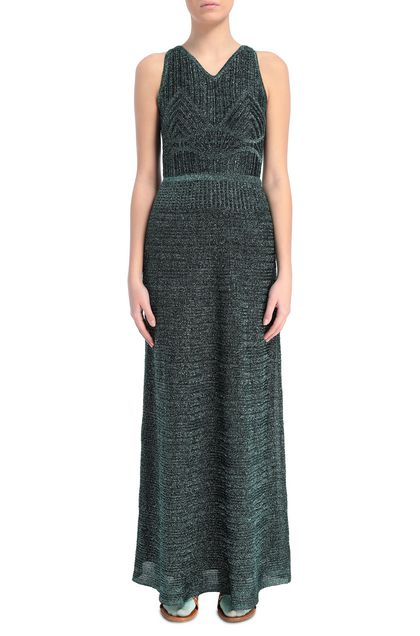 M MISSONI Long dress Deep jade Woman - Back