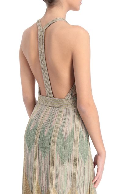 M MISSONI Long dress Sand Woman - Front