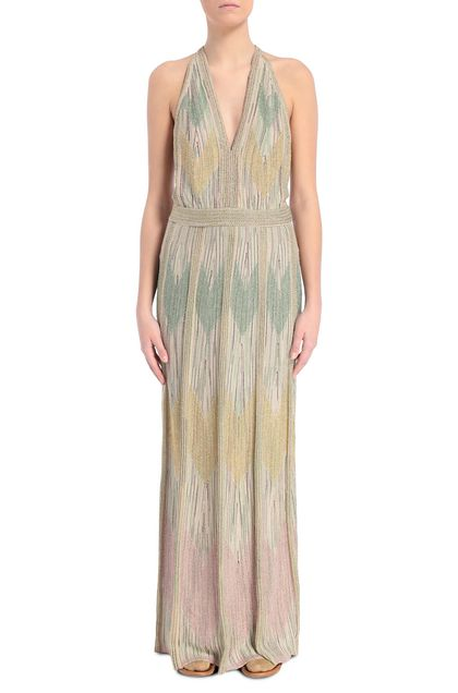 M MISSONI Long dress Sand Woman - Back