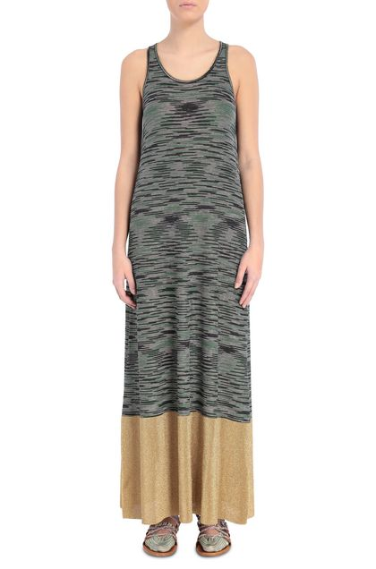 M MISSONI Long dress Dark blue Woman - Back