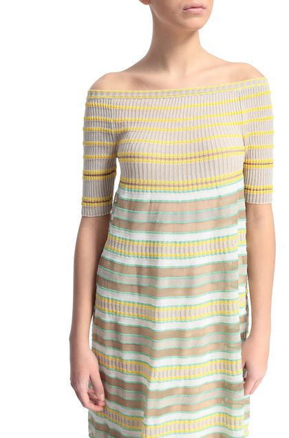 M MISSONI Long dress Yellow Woman - Front
