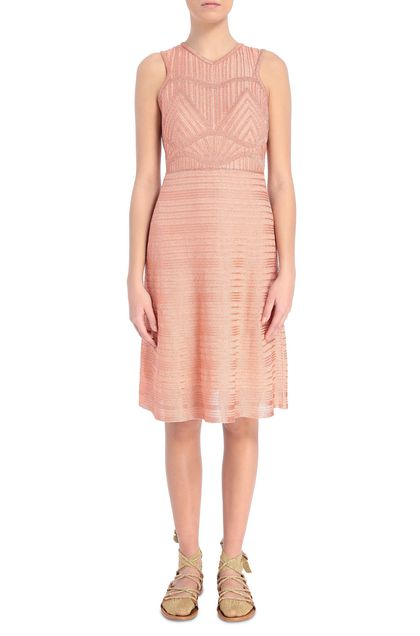 M MISSONI Dress Skin color Woman - Back