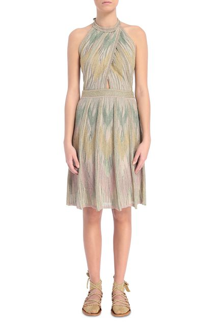 M MISSONI Dress Sand Woman - Back