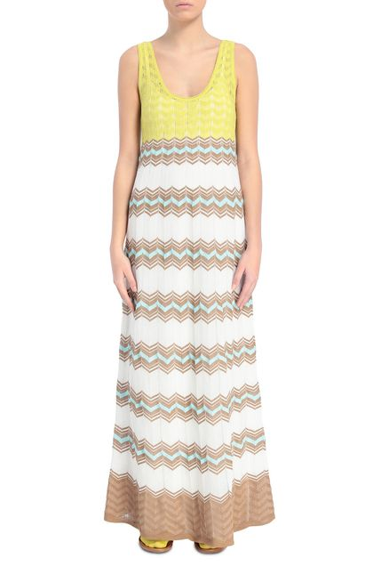 M MISSONI Long dress White Woman - Back