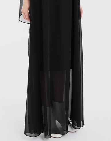DRESSES Sheer jersey dress