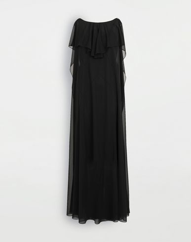 MAISON MARGIELA Sheer jersey dress Long dress Woman f