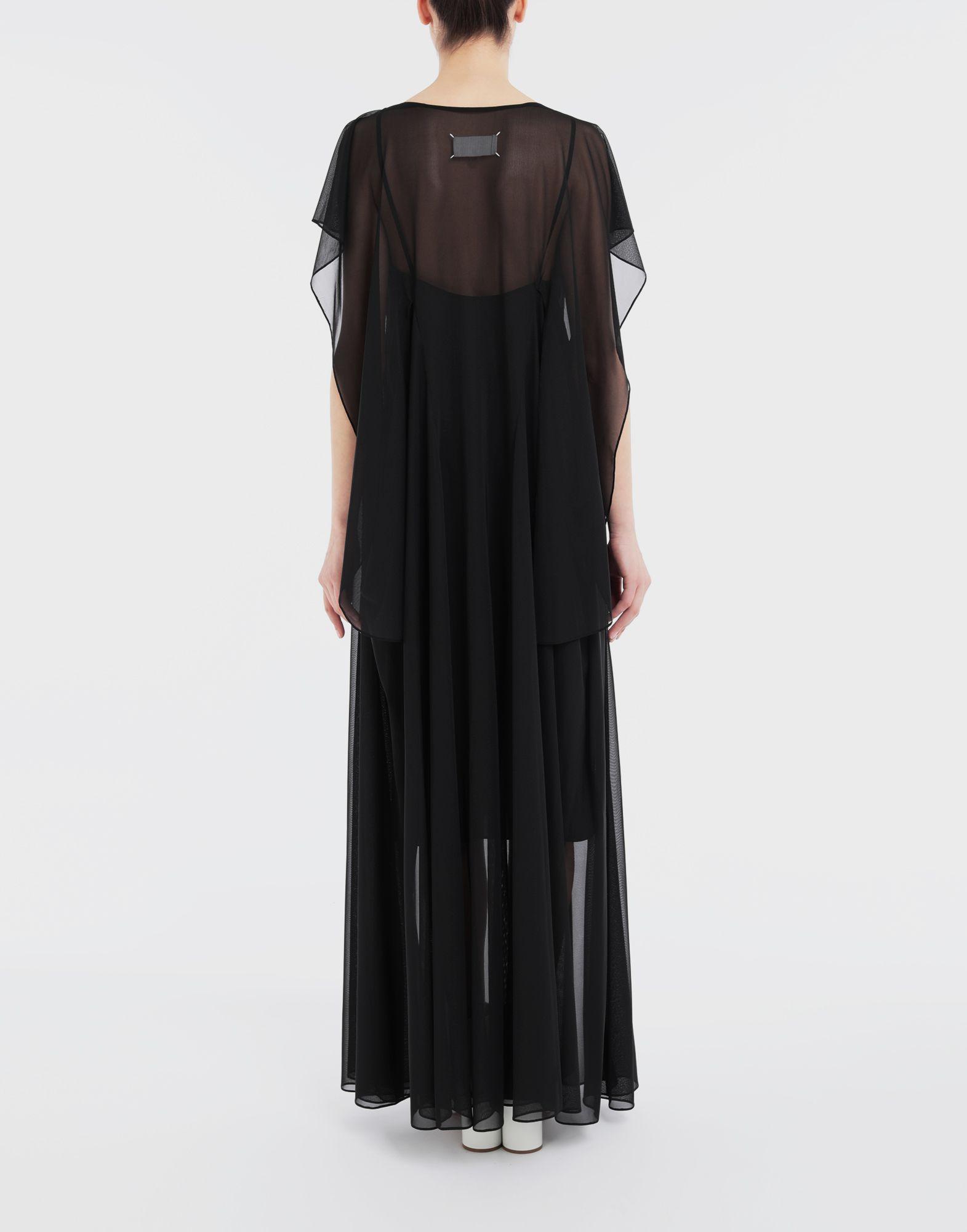 MAISON MARGIELA Sheer jersey dress Long dress Woman e