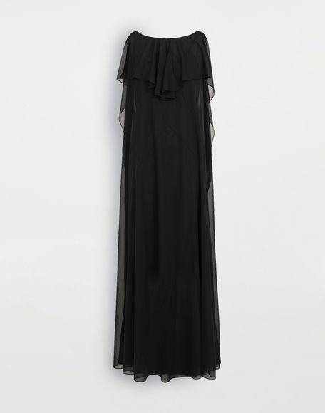 MAISON MARGIELA Sheer jersey dress Long dress Woman f