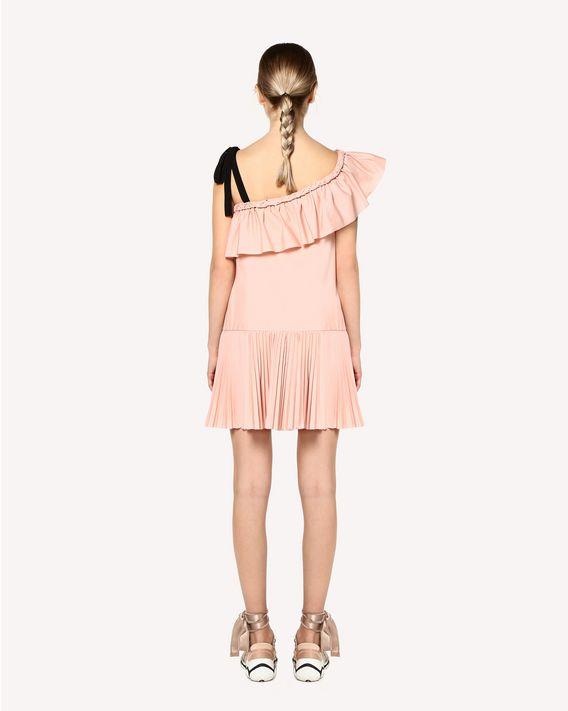 REDValentino Cotton poplin dress with braided detail
