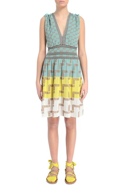 M MISSONI Dress Light green Woman - Back