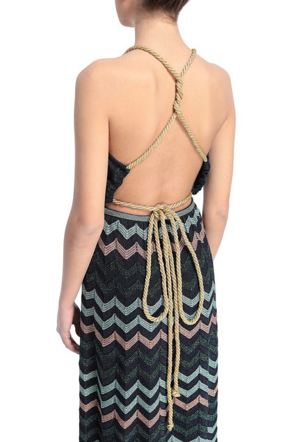M MISSONI Dress Dark blue Woman - Front