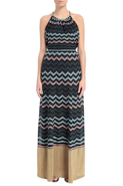 M MISSONI Dress Dark blue Woman - Back