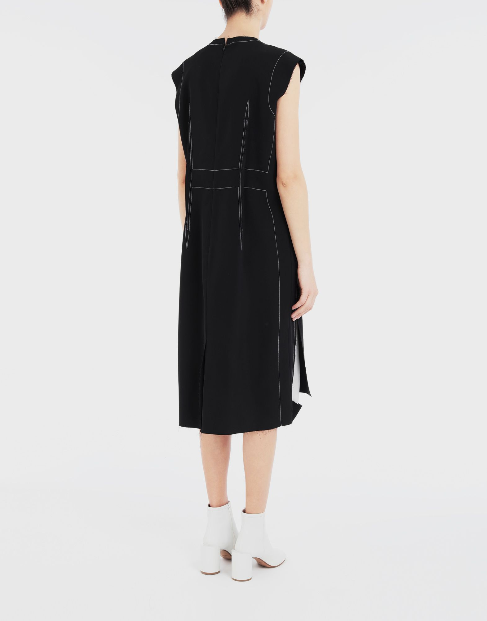 MAISON MARGIELA Décortiqué embroidered dress 3/4 length dress Woman e