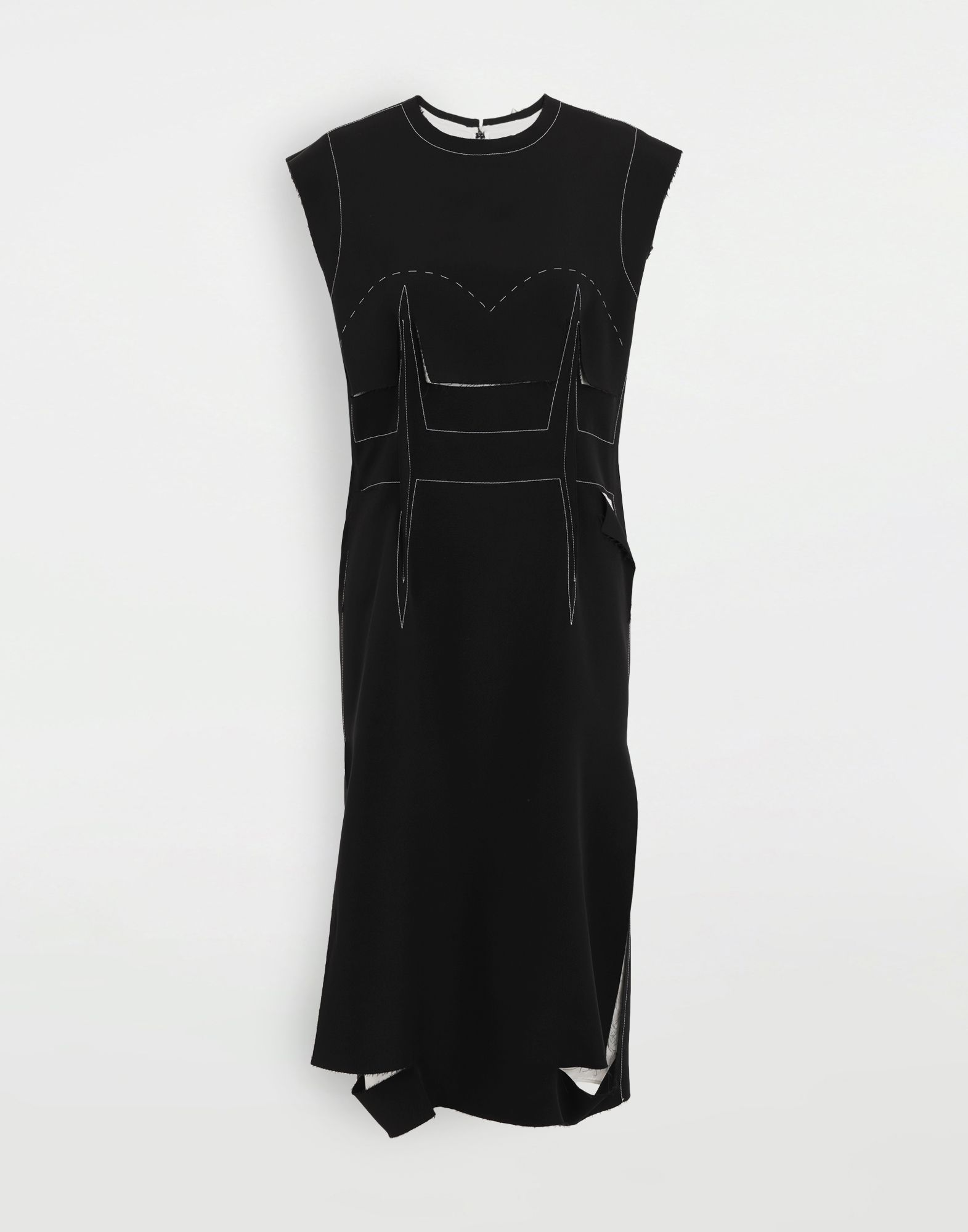 MAISON MARGIELA Décortiqué embroidered dress 3/4 length dress Woman f