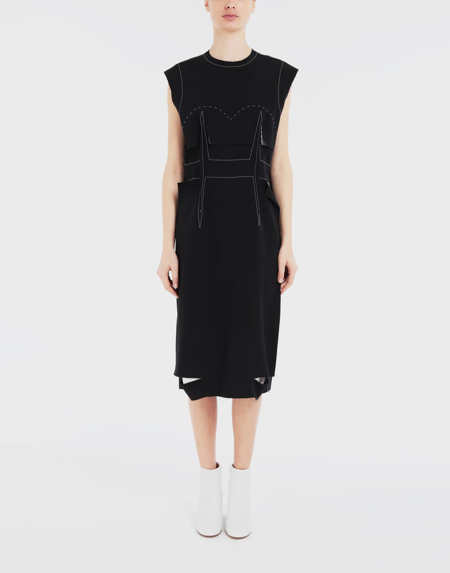 MAISON MARGIELA Décortiqué embroidered dress 3/4 length dress Woman r