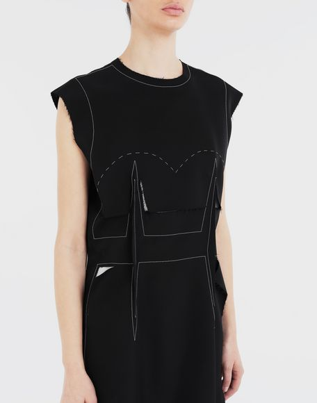 MAISON MARGIELA Décortiqué embroidered dress 3/4 length dress Woman a