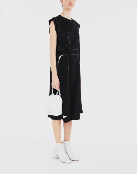 MAISON MARGIELA Décortiqué embroidered dress 3/4 length dress Woman d