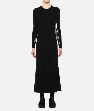 Y-3 Langes Kleid Dame Y-3 Tech Knit Dress r