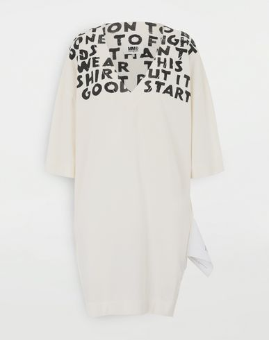 MM6 MAISON MARGIELA Charity AIDS-print dress Short dress Woman f