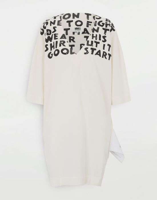 MM6 MAISON MARGIELA Charity AIDS プリント ドレス ミニワンピース・ドレス [*** pickupInStoreShipping_info ***] f
