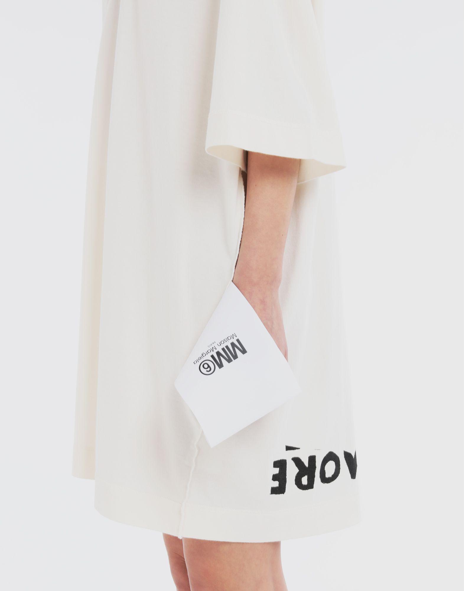 MM6 MAISON MARGIELA Charity AIDS-print dress Short dress Woman b