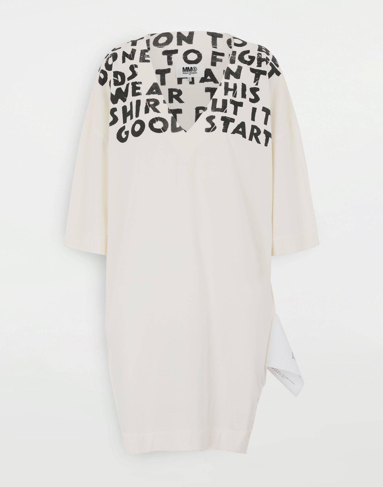 MM6 MAISON MARGIELA Charity AIDS-print dress Short dress Woman f