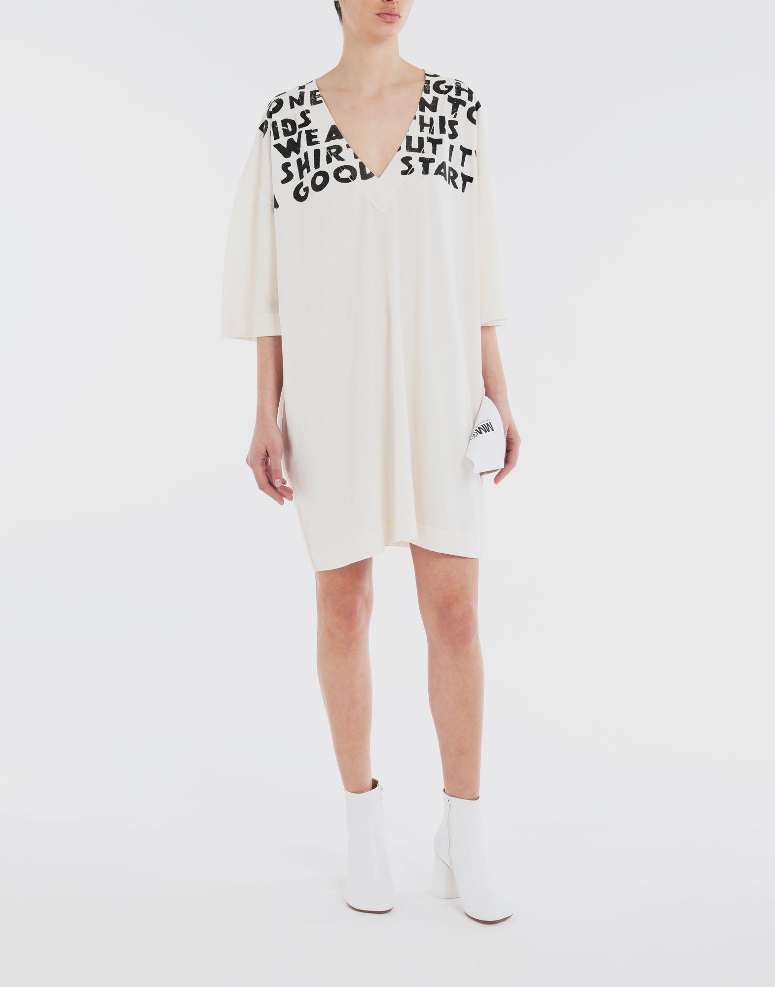MM6 MAISON MARGIELA Charity AIDS-print dress Short dress Woman r