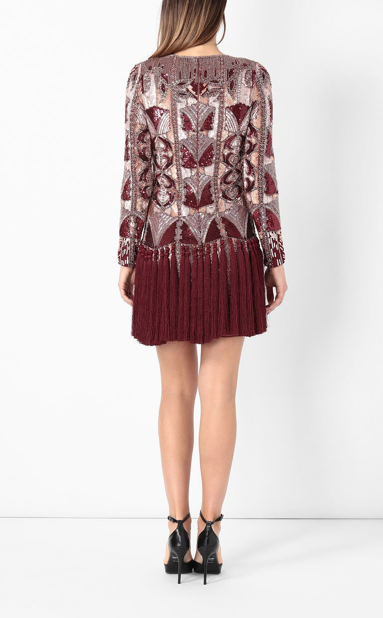 JUST CAVALLI Spangled dress with fringing Dress Woman a