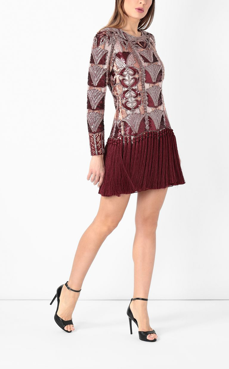 JUST CAVALLI Spangled dress with fringing Dress Woman d