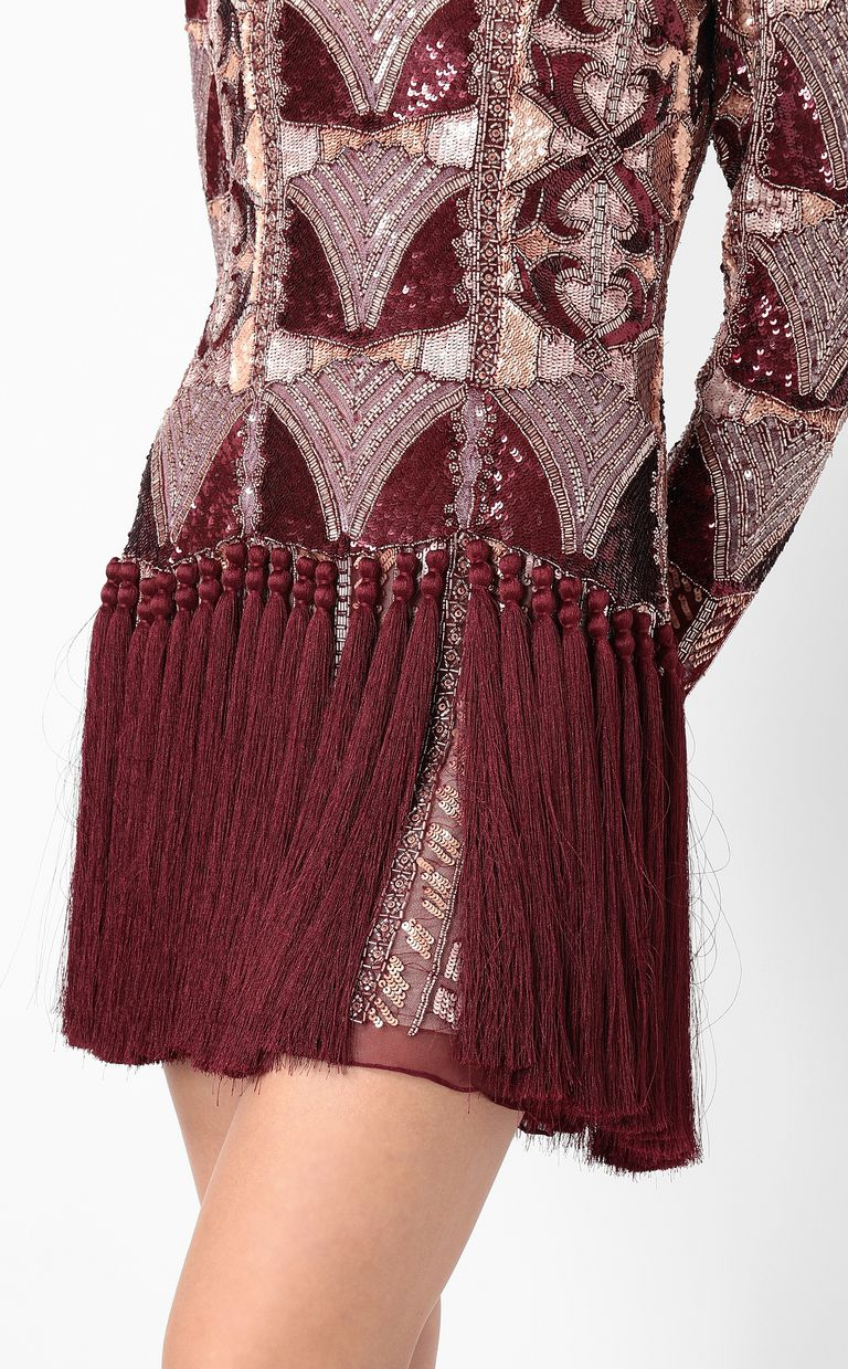 JUST CAVALLI Spangled dress with fringing Dress Woman e