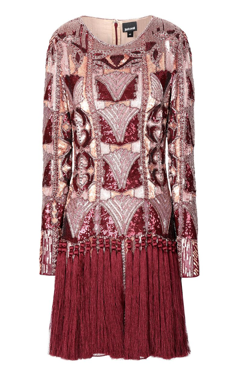 JUST CAVALLI Spangled dress with fringing Dress Woman f